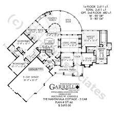 nantahala cottage 3 car house plan house plans by garrell