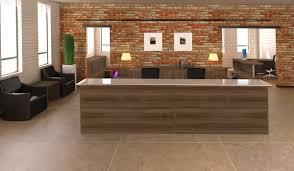 Double Reception Desk by Amber Cherryman Industries Inc
