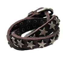 bracelet leather wrap images Coffee leather wrap bracelets stars studded bracelets in bracelets jpg