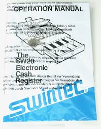 cash register swintec sw20 electronic cash register