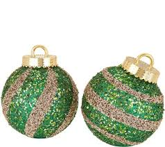 kringle express indoor outdoor s 2 8 striped sequined ornaments
