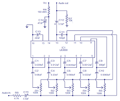 5 band graphic equalizer using la3600 electronic circuits and