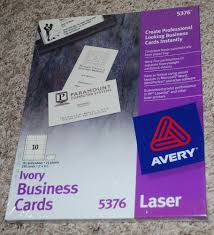 Avery Laser Business Cards 100 2 X 3 1 2 Business Card Template Business Card Design