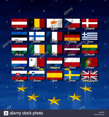 European Flags Images Flags With Names Of The Member Nations Of The European Union Plus