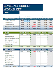 7 bi weekly budget template