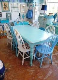 Shabby Chic Kitchen Table by Diy Chippy Farm Table W Mismatched Chairs