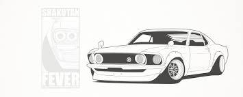 stanced cars drawing shakotan 69 mustang by shakotanfever on deviantart