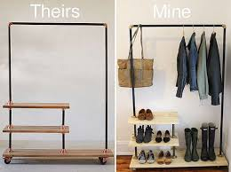 diy clothing storage diy industrial shoe and coat rack inspired by urban outfitters