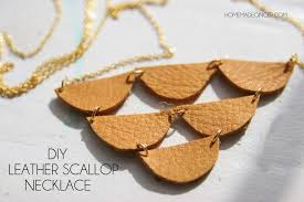diy leather necklace images Diy leather scallop necklace homemade ginger jpg