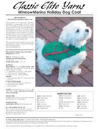 crochet pattern for dog coat crochet pattern central free pets crochet pattern link directory