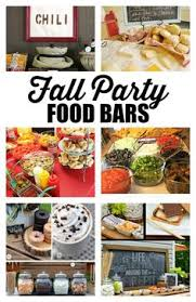 Fall Party Table Decorations - fun for a fall get together a chili bar cute decorations too