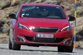 peugeot hatchback 308 more powerful peugeot 308 hatchback spied