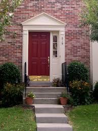 front doors trendy colors deep red front door 36 dark red paint