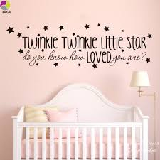 popular baby wall quotes decals buy cheap baby wall quotes decals twinkle twinkle little star song lyrics wall sticker baby nursery kids room do you know how