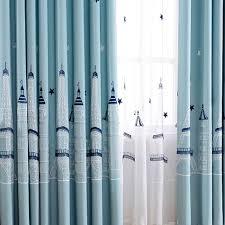 Blau F Schlafzimmer Aliexpress Com Sterne Schloss Baumwolle Leinenvorhänge Für