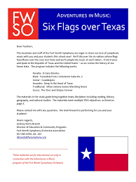 Call Six Flags Over Texas Six Flags Over Texas Study Guide 1415 Music Technology
