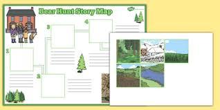 bear hunt story map activity sheet pack bear hunt story map