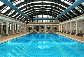 Indoor Pool Design Luxurious Indoor Pool Design With Huge Rectangle Shaped Pool And