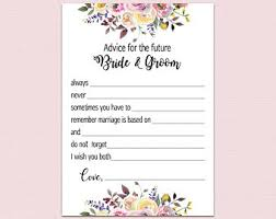 Advice Cards For The Bride And Groom Best Wishes For The Mr And Mrs Sign Bridal Shower Cards