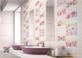 pink bathroom decorating ideas bathroom pink and blue tile bathroom decorating idea grey walls