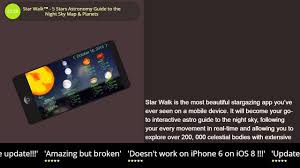 Maps To The Stars Review Star Walk 5 Stars Astronomy Guide To The Night Sky Map