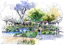 landscape garden sketch series 12 stock illustration thinkstock