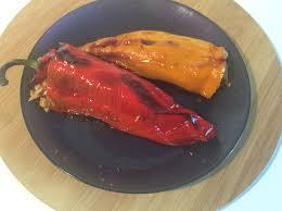 corne de cuisine poivrons cornes de taureau farcis au maquereau et millet ma