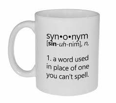 synonym definition coffee or tea mug neurons not included