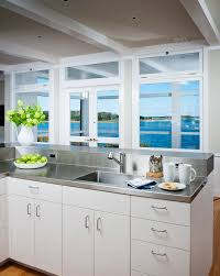 Microwave In Island In Kitchen Kitchen Contemporary White Coastal Kitchens 3 Glass Shade