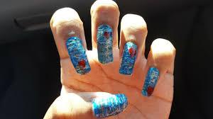 evie descendants inspired nail art youtube