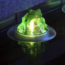 solar frog light color changing 5 wide frog led solar power decorative floating
