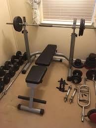 Cheap Weight Sets With Bench Full Gym Set Up Free Weights Bench Squat Rack In Ipswich
