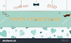 congratulation poster you happy fathers day stock illustration 643294948