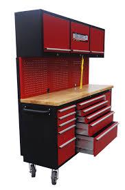 new red 17 drawer tool bench u0026 cabinet ga7210rt uncle wiener u0027s