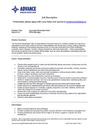 resume cover letter for accounts receivable