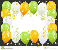 patrick s day balloons u0026 confetti frame stock vector image 36472408