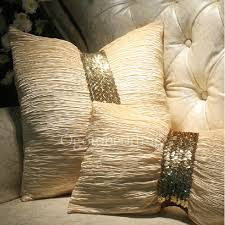 gold sequin luxury modern decorative pillows on sale ogzt082064