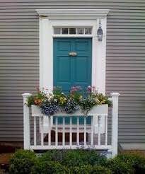 teal front door use gray shutters on the brick house too lovely