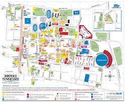 Usa Campus Map by Mtsu Campus Map Mtsu Online Visitor U0027s Guide