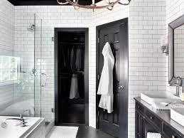 astonishing black and white bathroom with scandinavian style