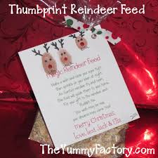 reindeer feed with fingerprint reindeer theyummyfactory