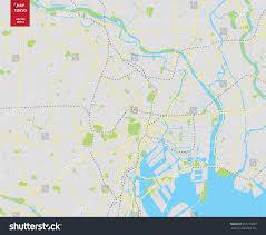 vector color map tokyo japan city stock vector 557270287