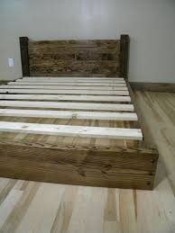 diy solid wood twin bed for under 50 little bright eyes