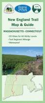 Map New England by New England Trail Map U0026 Guide Appalachian Mountain Club Books