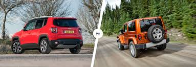 mini jeep wrangler jeep renegade vs wrangler which is best carwow