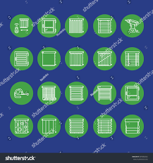 window blinds shades line icons various stock vector 645566242