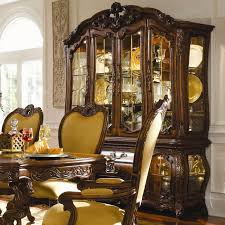 michael amini palais royale china cabinet with beveled glass doors