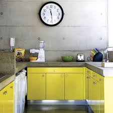 Yellow Kitchen Cabinet 20 Kitchen Ideas With Painted Cabinet Home Design And Interior