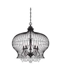 savoy house 7 6100 6 birdcage 30 inch wide 6 light large pendant