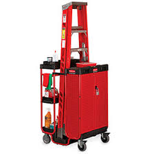 rubbermaid service cart with cabinet trucks carts carts maintenance service rubbermaid ladder cart